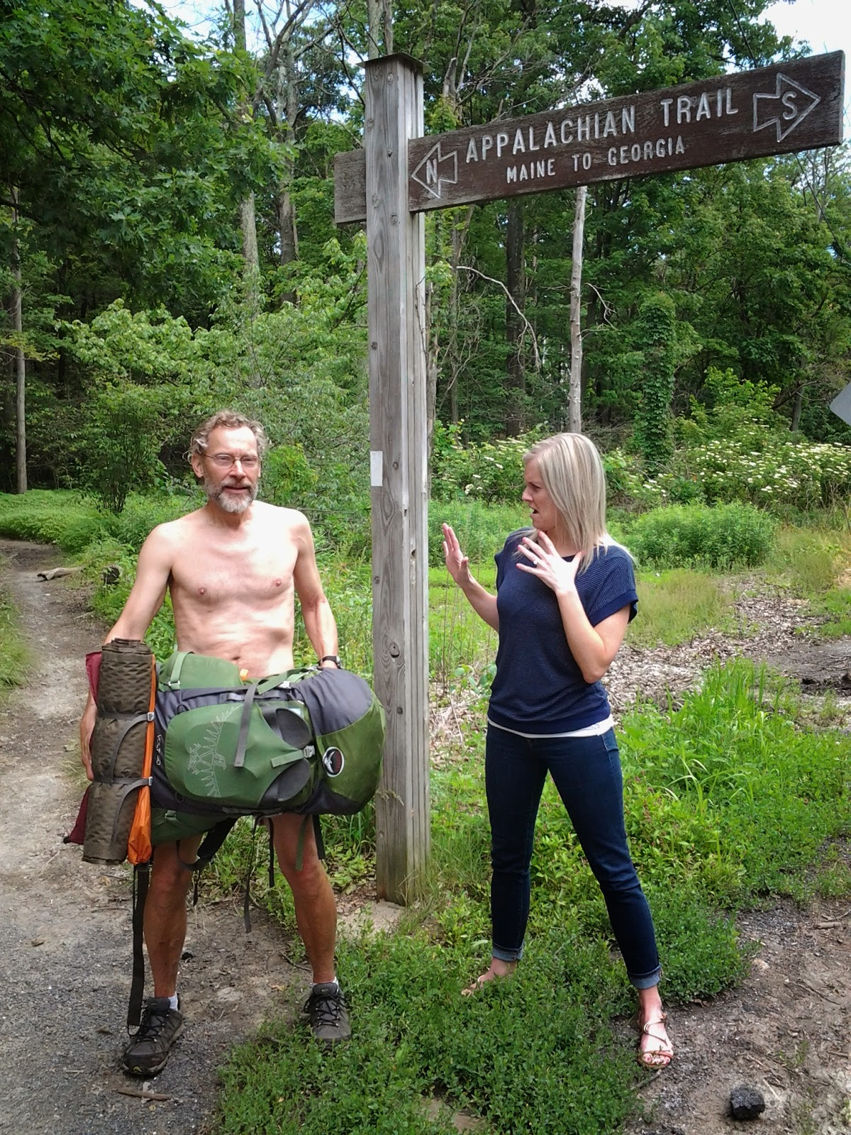 I Guess I Should Have Warned Steph That She Would Be Picking Me Up On Hike Naked Day